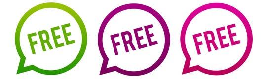 Livre - botões redondos da Web Vetor do círculo Eps10 ilustração royalty free
