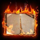 Livre brûlant illustration libre de droits