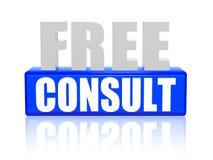 Livre consulte nas letras 3d e no bloco Imagem de Stock Royalty Free