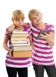 Livre contre l'ebook photographie stock