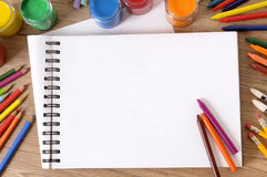 Livre d'écriture d'école Image libre de droits