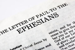 Livre d'Ephesians Photos libres de droits