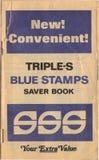 Livre d'estampilles de commerce de triples Photo libre de droits