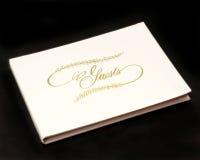 Livre d'invité Photo stock