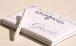 Livre d'invité de mariage Images libres de droits