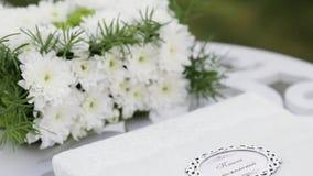 Livre d'invité de mariage Photographie stock