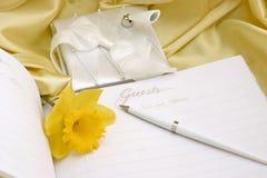 Livre d'invité de mariage Photographie stock libre de droits