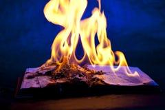 Livre de brûlure Images stock