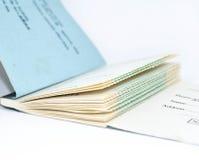 Livre de chèque Photographie stock