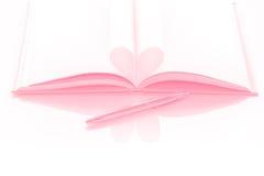 Livre de coeur - effet en pastel Photographie stock libre de droits