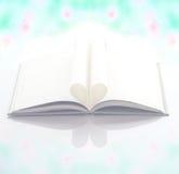 Livre de coeur - effet en pastel Image stock