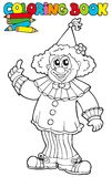 Livre de coloration avec le clown drôle Image stock