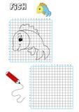 Livre de coloration - grille 9 Images stock