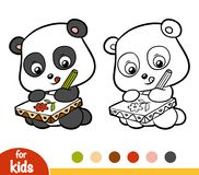 Livre de coloriage, artiste de panda Photo libre de droits