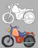 Livre de coloriage avec la moto Images libres de droits