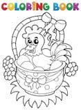 Livre de coloriage avec le thème 8 de Pâques Images libres de droits
