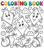 Livre de coloriage avec trois cerfs-volants Photo libre de droits