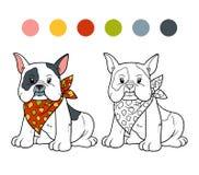 Coloriage Bouledogue Anglais.Bouledogue De Coloration Sur Le Patin Illustration Stock