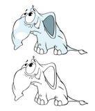 Livre de coloriage d'éléphant Images stock