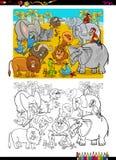Livre de coloriage d'animaux de safari Photo stock