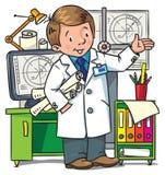 Livre de coloriage d'ingénieur Série d'ABC de profession Photos stock