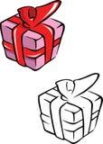 Livre de coloriage de cadeau Images stock