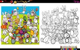 Livre de coloriage de caractères de Pâques Images stock