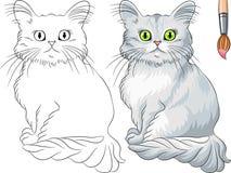 Livre de coloriage de chat de Tiffany Photographie stock libre de droits