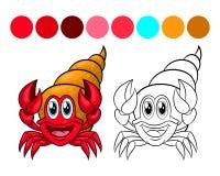 Livre de coloriage de crabe Photographie stock libre de droits