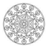 Livre de coloriage de mandala de cercle pour le vecteur d'adultes illustration libre de droits