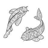 Livre de coloriage de poissons de carpe de koi pour le for Livre carpe koi