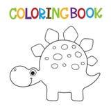 Livre de coloriage mignon de Dino Images libres de droits