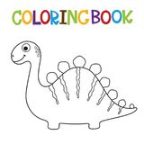 Livre de coloriage mignon de Dino Image libre de droits