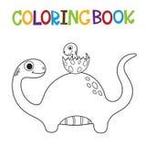 Livre de coloriage mignon de Dino Image stock