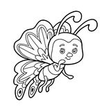 Livre de coloriage, papillon illustration de vecteur