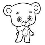 Livre de coloriage, peu d'ours illustration de vecteur