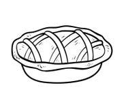 Livre de coloriage, tarte illustration de vecteur