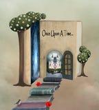 Livre de conte de fées il était une fois illustration de vecteur