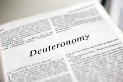 Livre de Deuteronomy Photographie stock