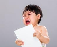 Livre de haine de bébé garçon photographie stock