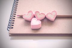 Livre de journal intime de l'amour Images libres de droits