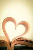 Livre de l'amour Photographie stock
