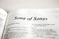 Livre de la chanson des chansons Images libres de droits