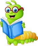 Livre de lecture de Caterpillar illustration stock