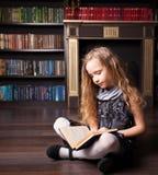 Livre de lecture de fille Photographie stock libre de droits