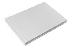 Livre de livre À couverture dure blanc fermé Photographie stock