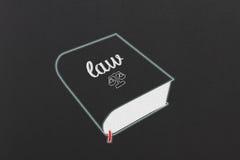 Livre de loi Photographie stock