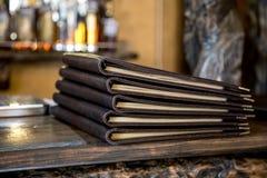 Livre de menu de restaurant Images libres de droits
