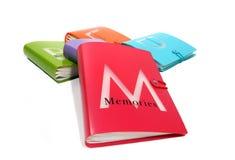 Livre de mémoires Photographie stock