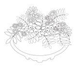 Livre de page de coloration avec les éléments ornementaux floraux décoratifs IL Photographie stock libre de droits